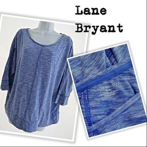 Blue White Modal Oversized Shirt Blue Lane Bryant